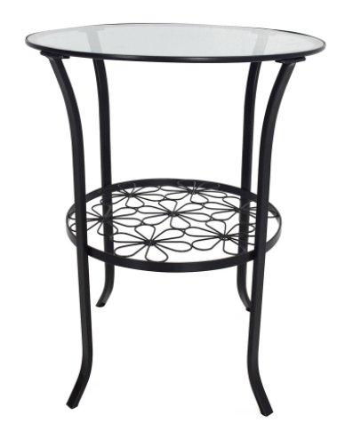 Ikea Klingsbo Stolik Metalowy Szklany Blat Okrągły
