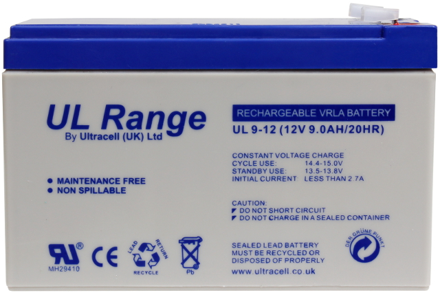 Item ULTRACELL GEL BATTERY 12V 9AH ALARM UPS