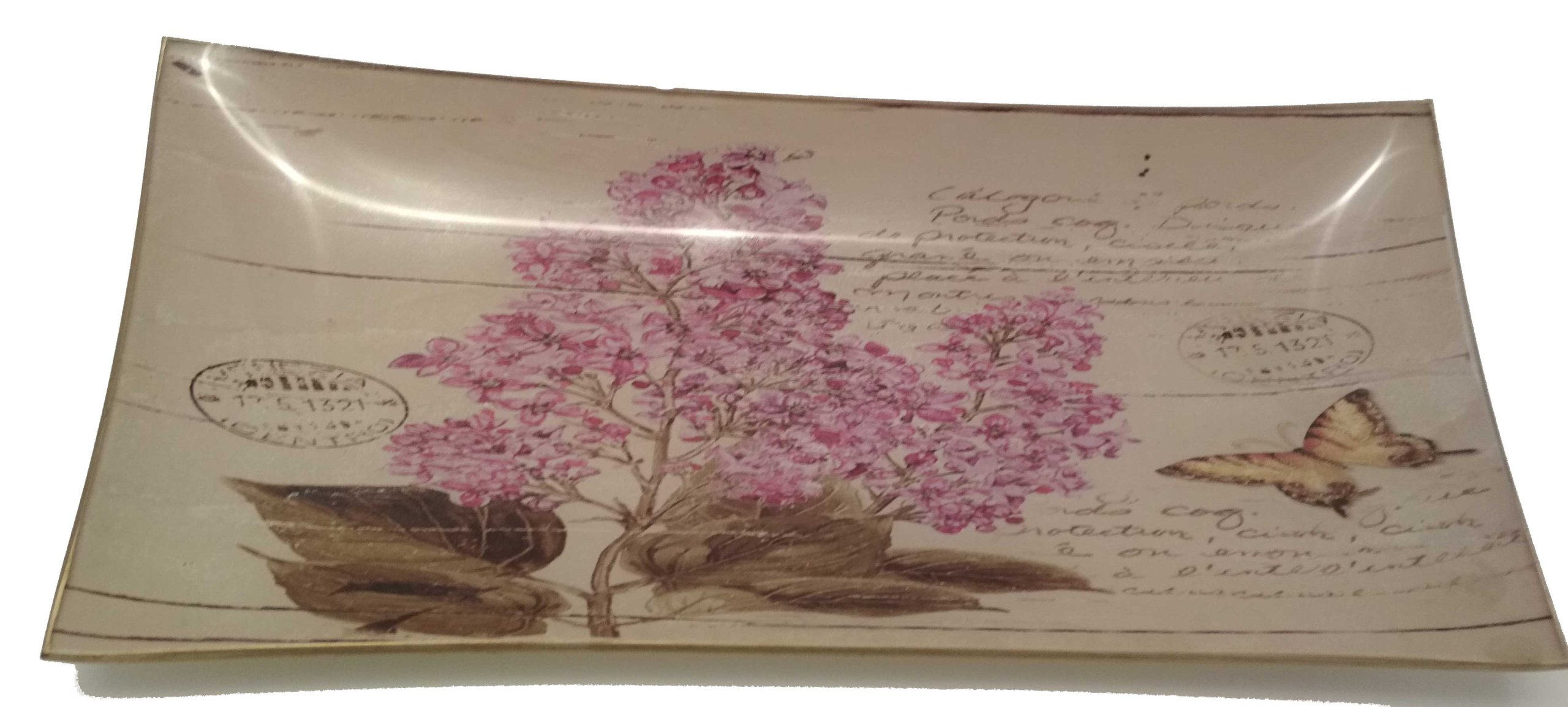 Doska dekoratívne sklo vintage lila bez 200875