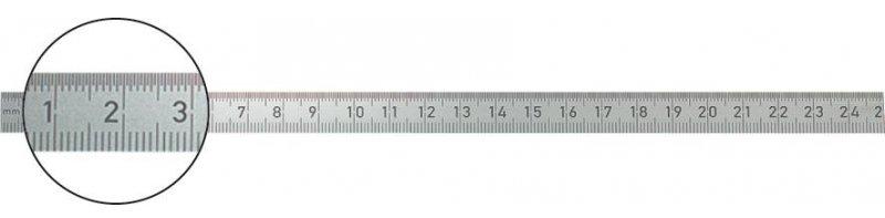 Pravítko pravidlo pravidlo Inox 100x13 mm