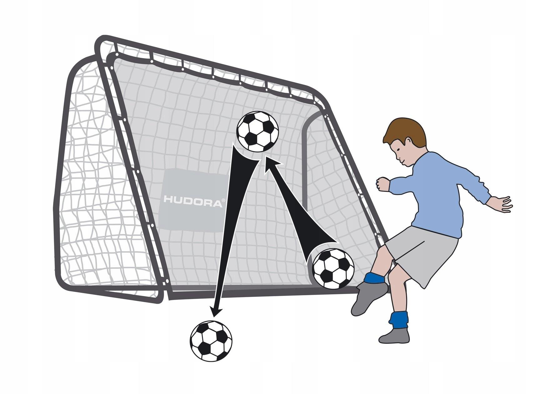 2V1 + rebrózne futbalový gól + Hudora Grid