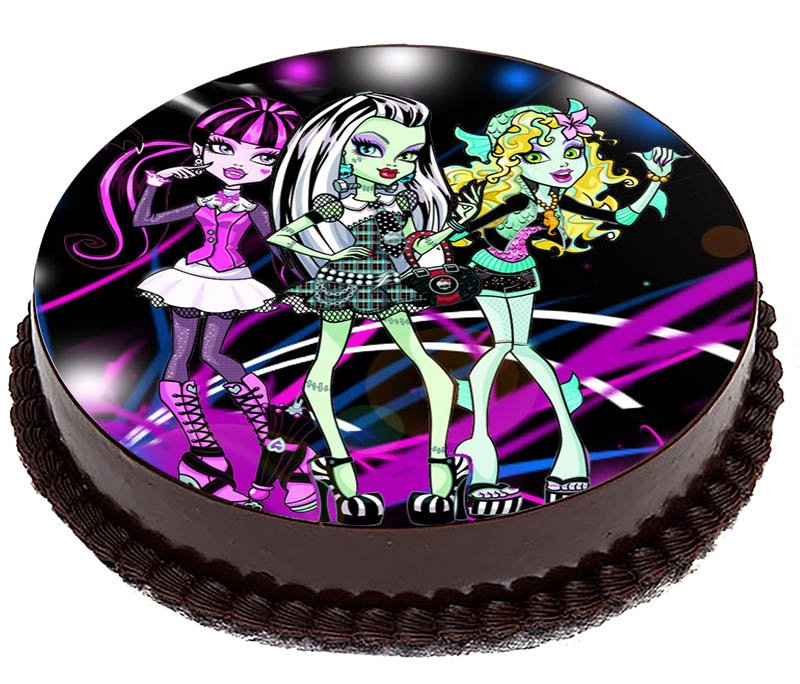 Oplatek Na Tort Monster High Bajka Frankie 20cm 7275571915 Allegro Pl