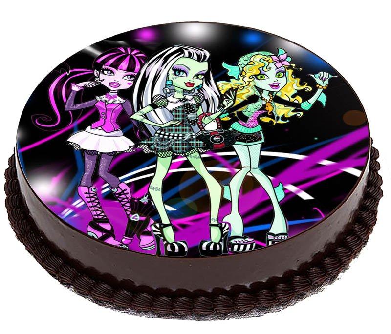 Oplatek Na Tort Monster High Bajka Frankie 20cm 7275571915 Allegro Pl