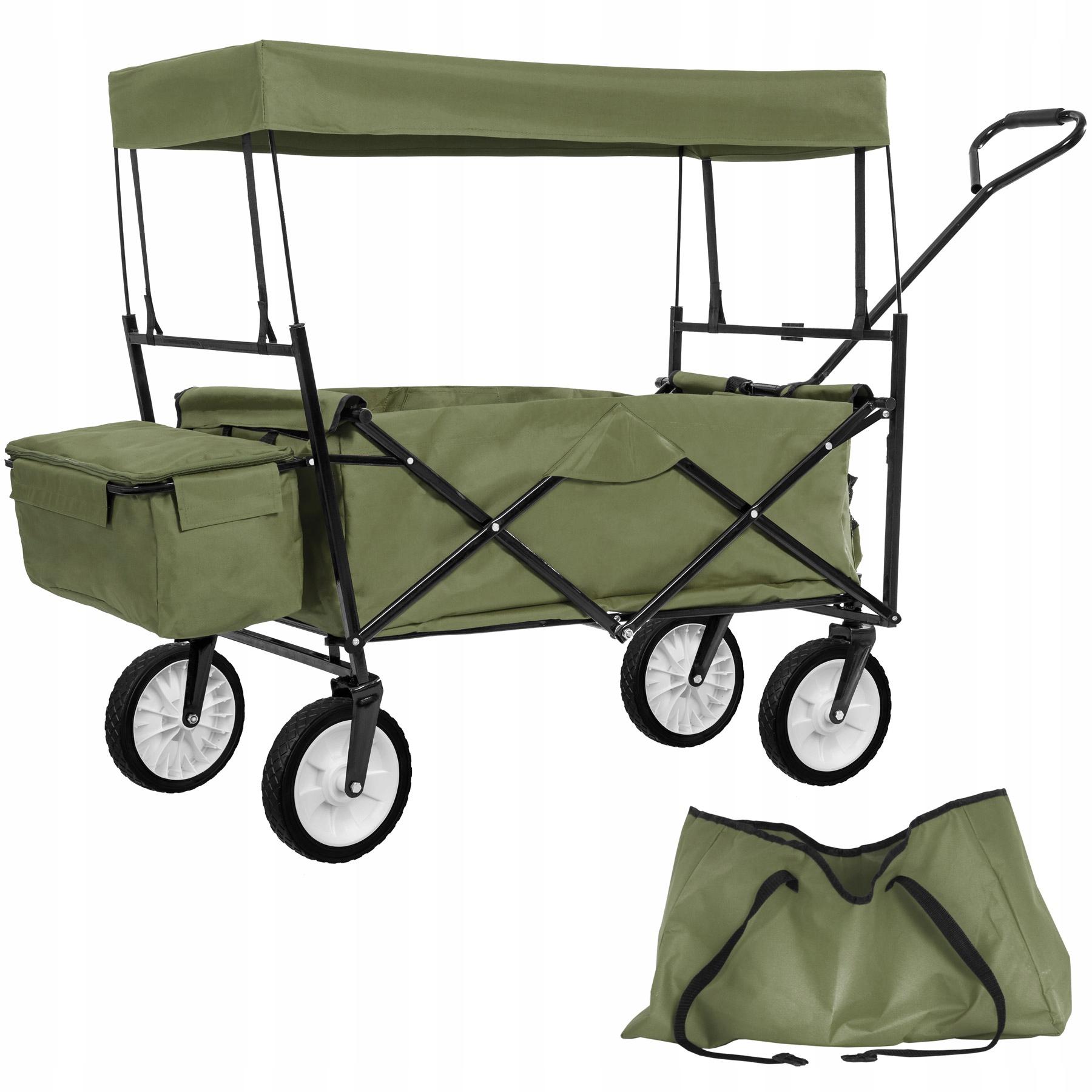 Wózek Transportowy Ogrodowy z dachem