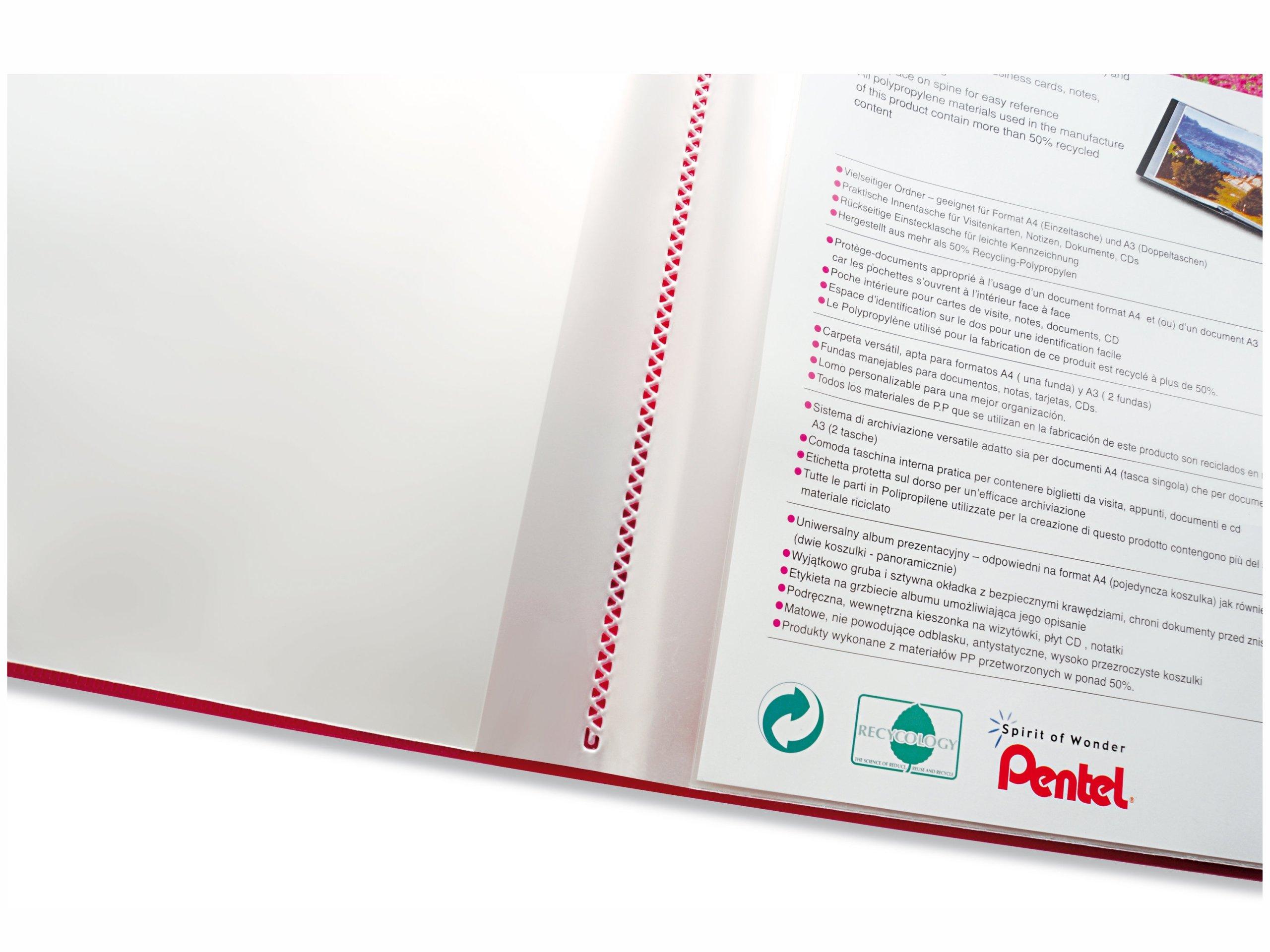 Album Ofertowy Pentel A4 A3 20 Kieszeni Czarny