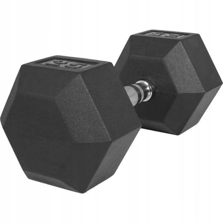 Dumbbell 25kg Cast Iron Pogumovaný Professional Dumbbel