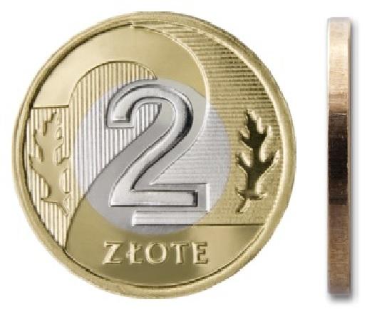 2 злотых монетный двор 2007 г.