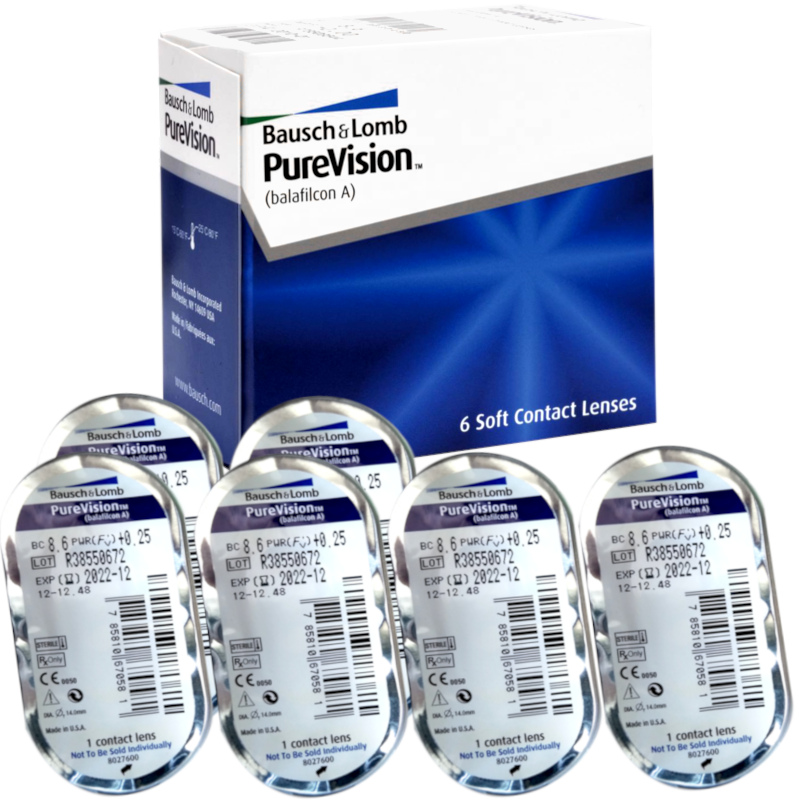 Miesięczne CAŁODOBOWE Pure Vision PureVision BC8.6