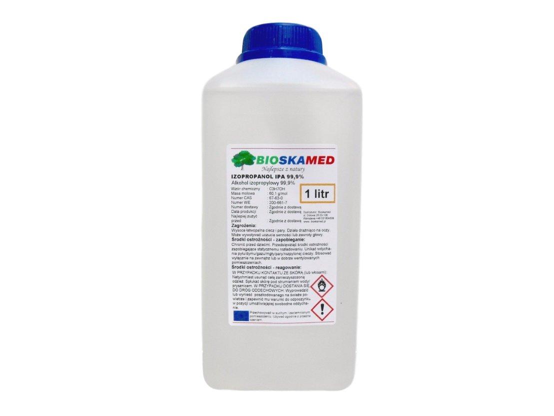Алкоголь Изопропилола IPA 99,9% ISOPROPANOL 1 литр