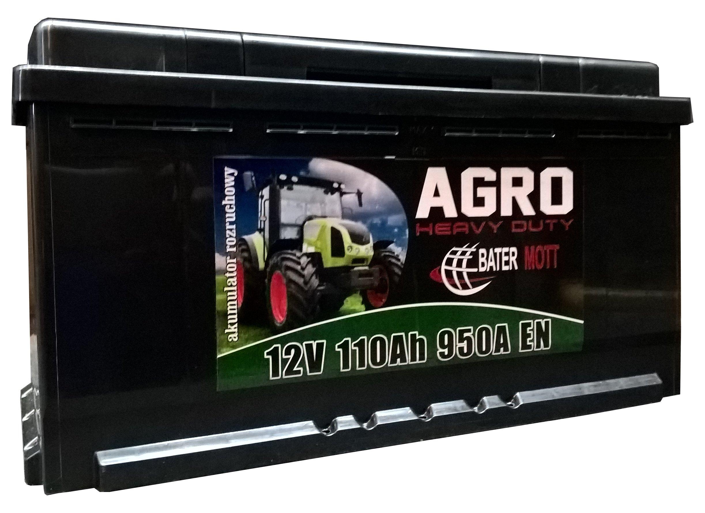 аккумулятор battermott агро 12v 110ah 950a