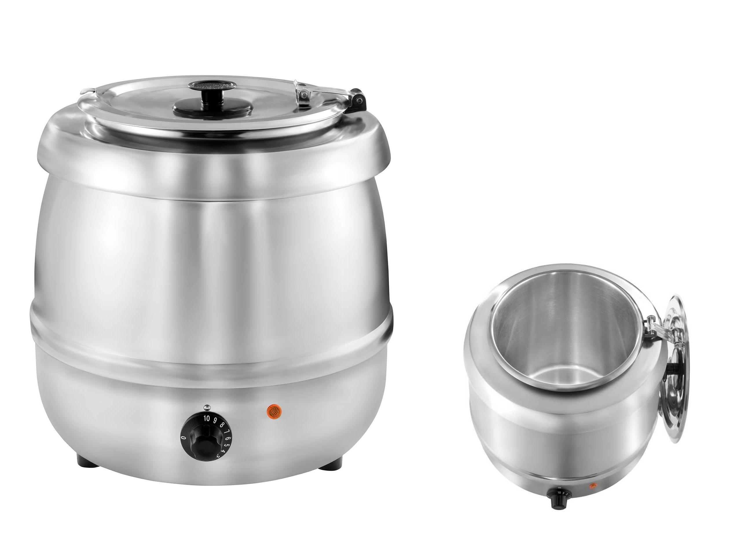 Elektrický hrniec kotla pre polievku 10L inox