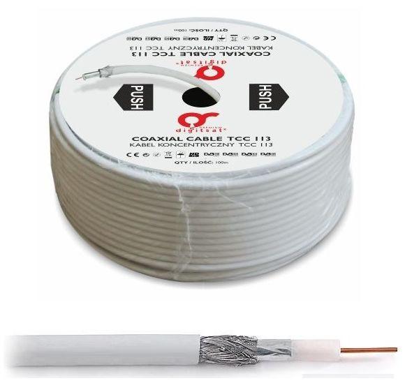 Kábel koaxiálny kábel 1,13 cu trishield 100m