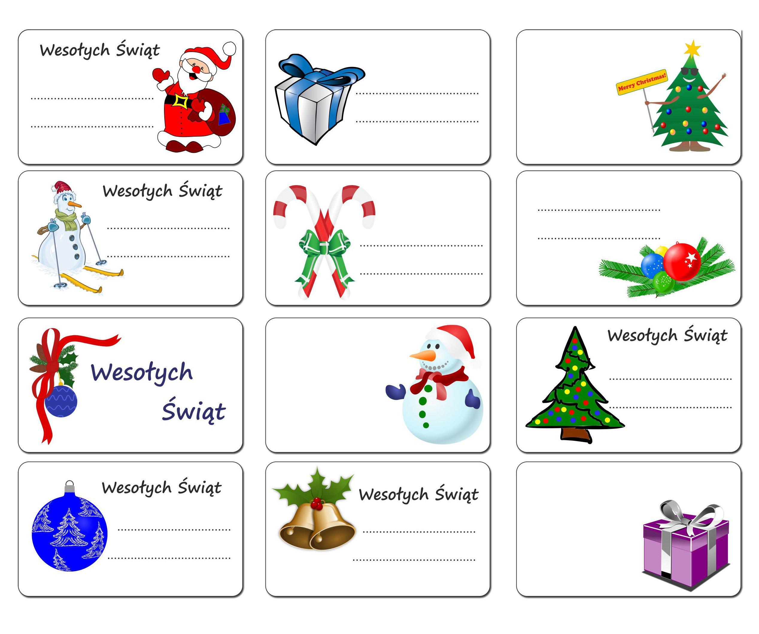 Štítky Darčekové samolepky Vianočný darček