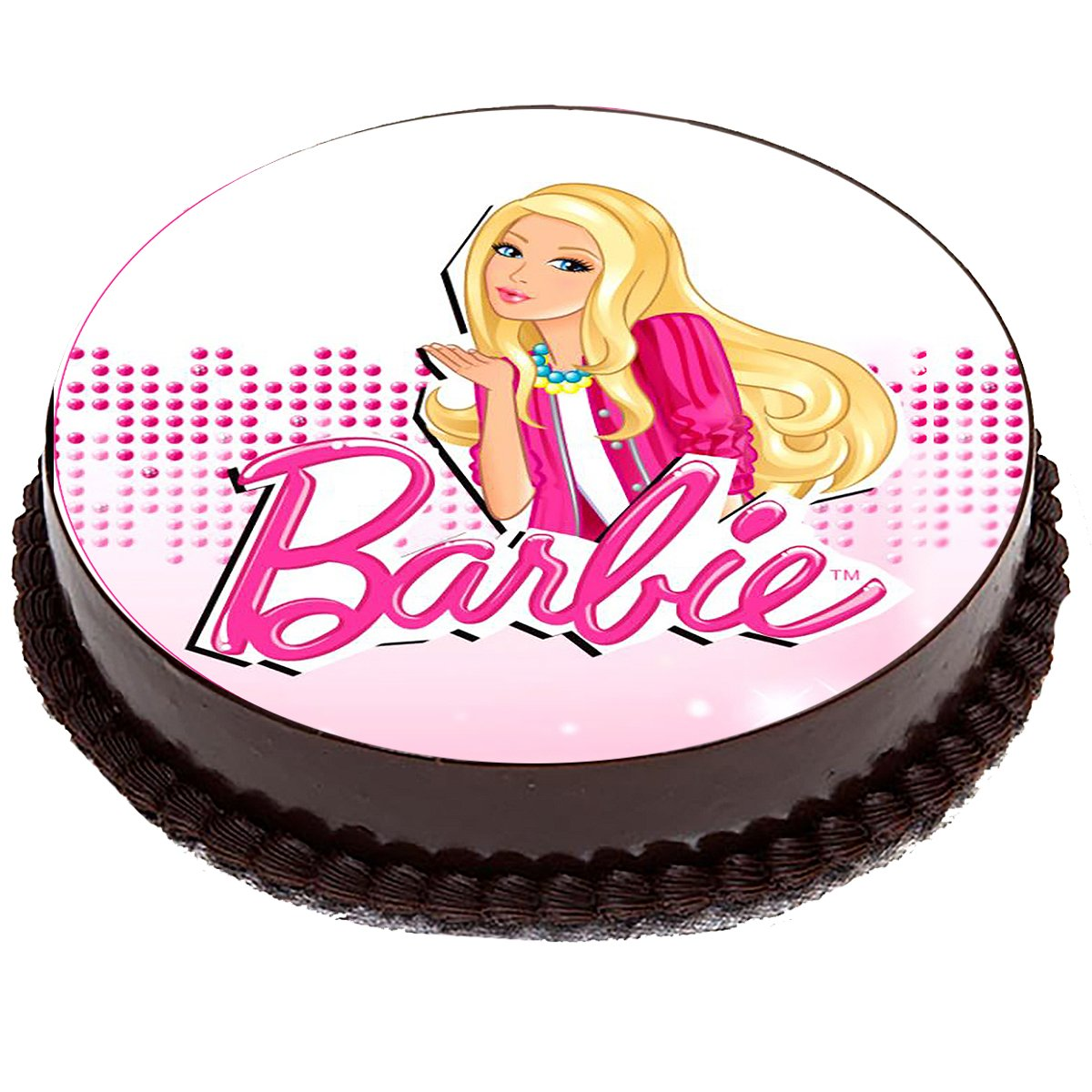 Вафельные картинки барби для торта