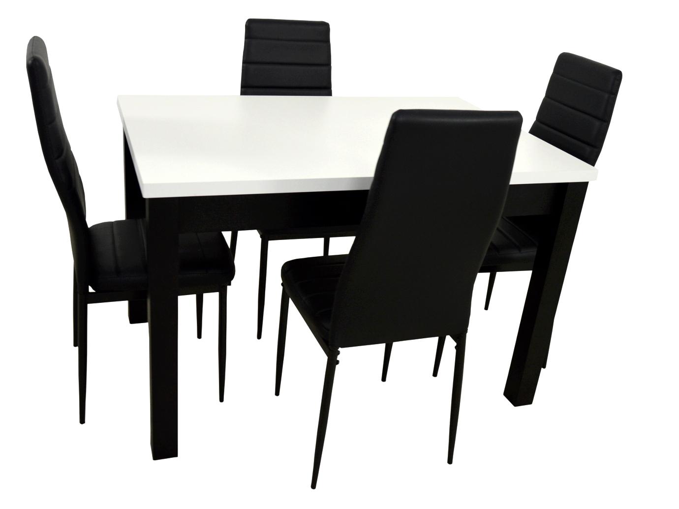 4 stoličky a stôl 80x120 Moderná Kuchyňa