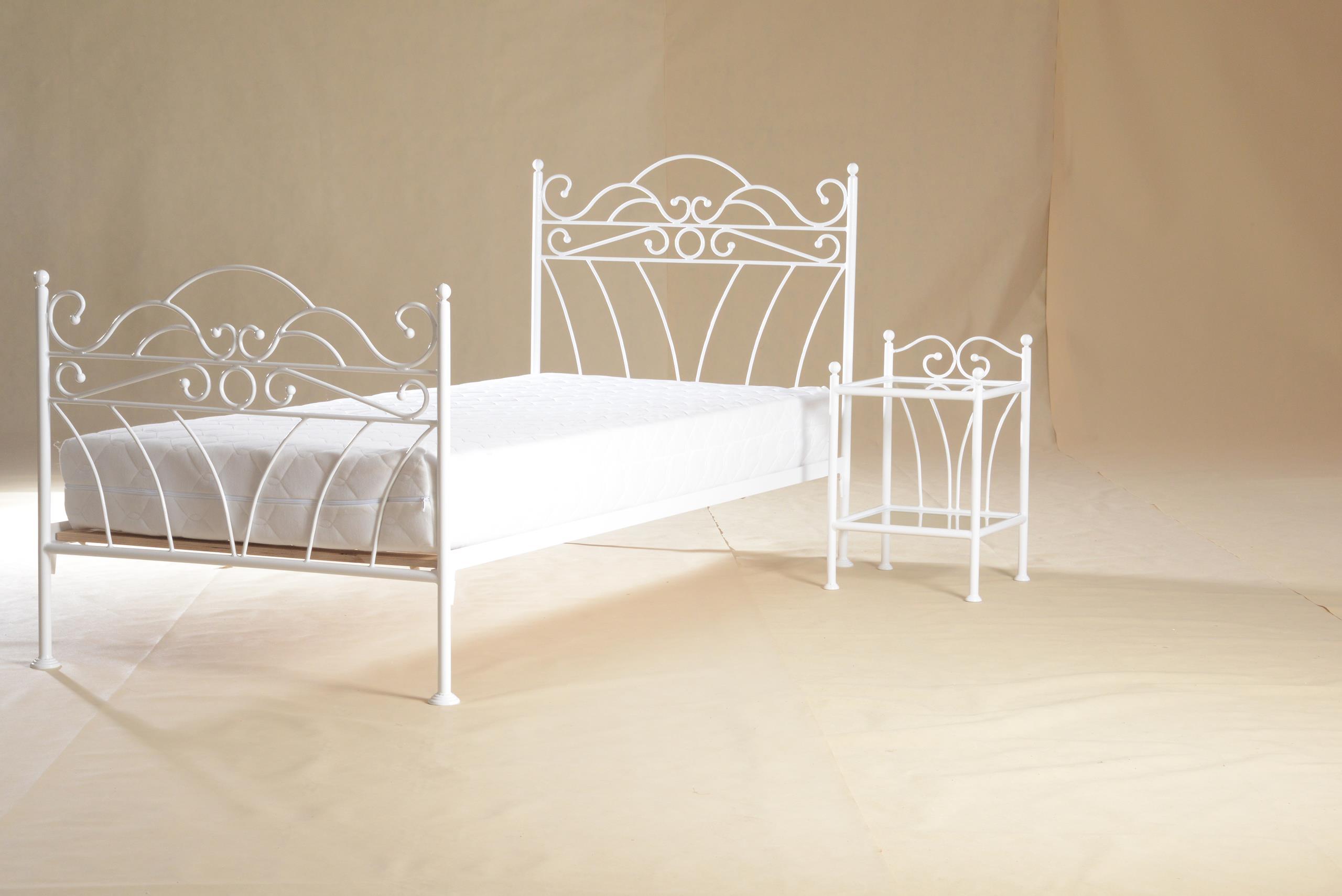 łóżko Metalowe Białe Wiking 90x200 Glamour Kute 7572530742
