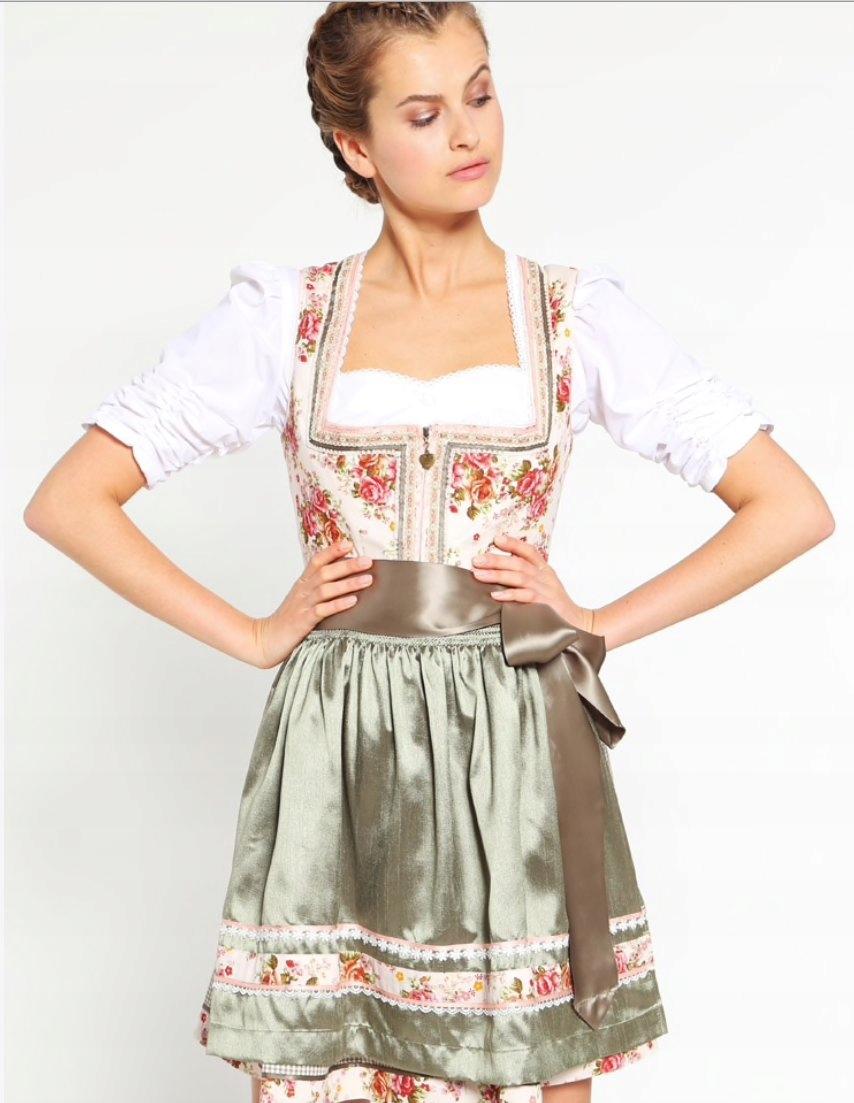 ff11fb17b2 Kruger Dirndl Sukienka Ludowa Z Fartuchem R34 W W 7421161564