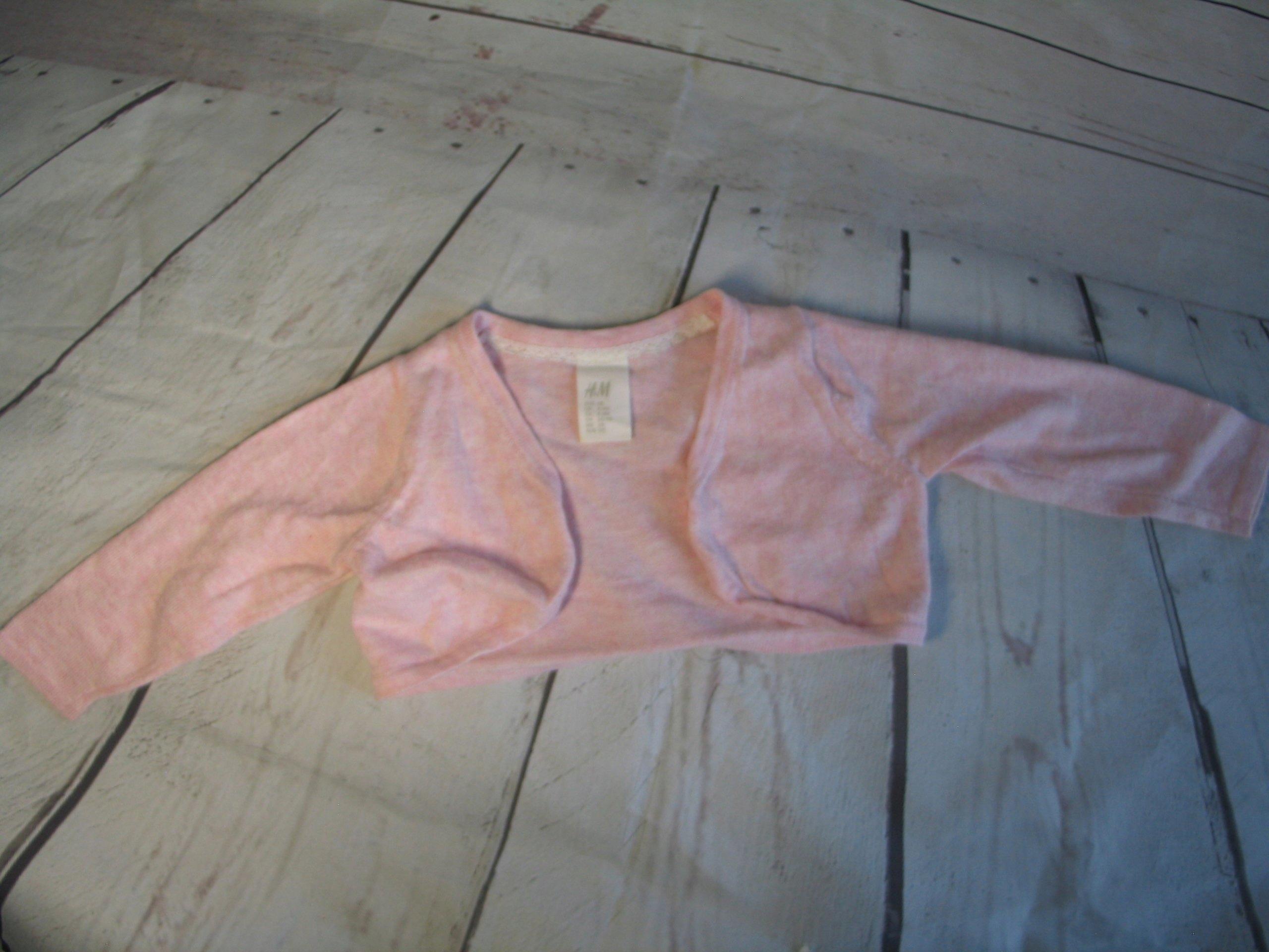 sweterek bolerko narzutka H&M 4-6 m, r. 68