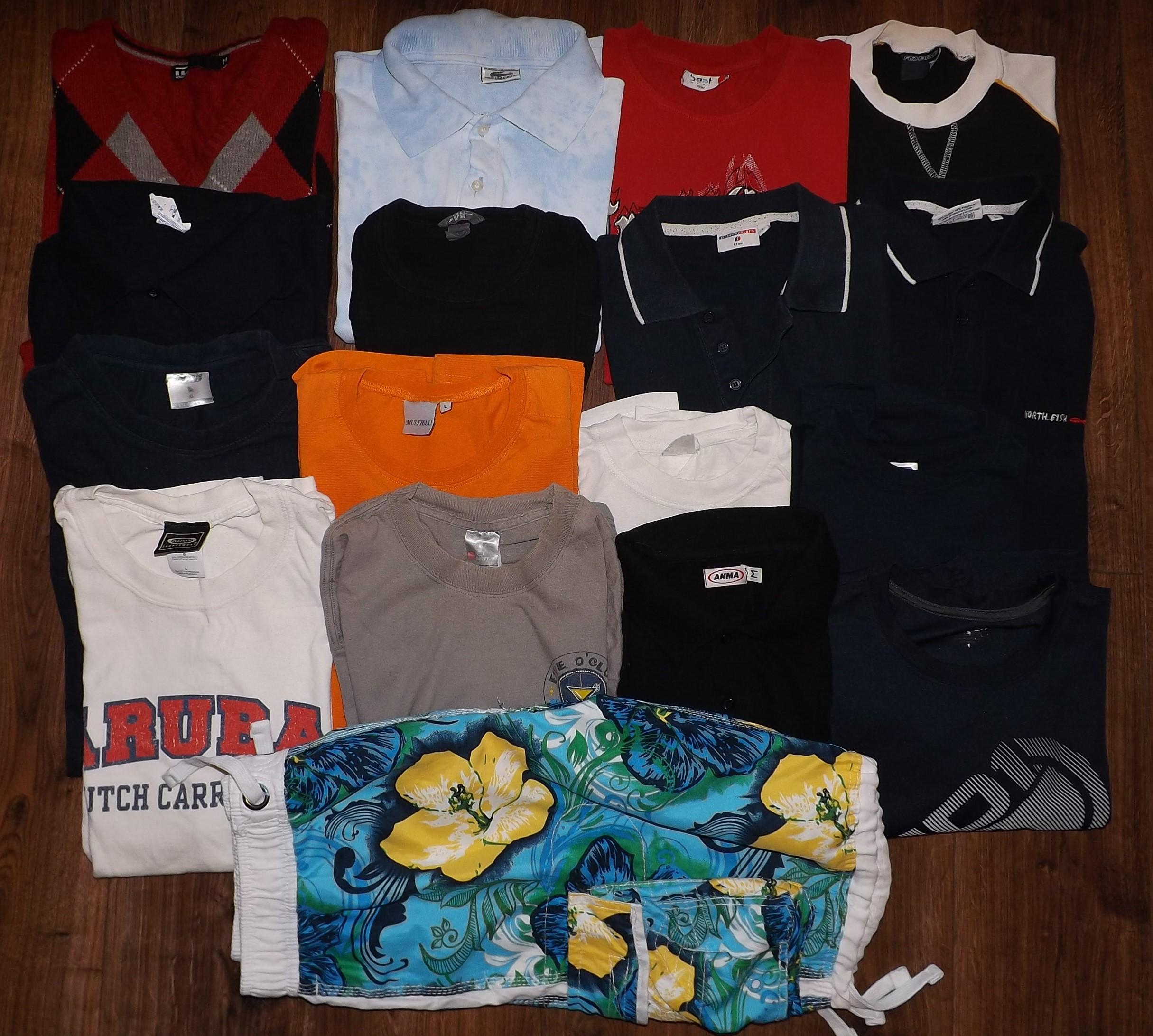 Zestaw ubrań - Lacoste / H&M / NBA i inne