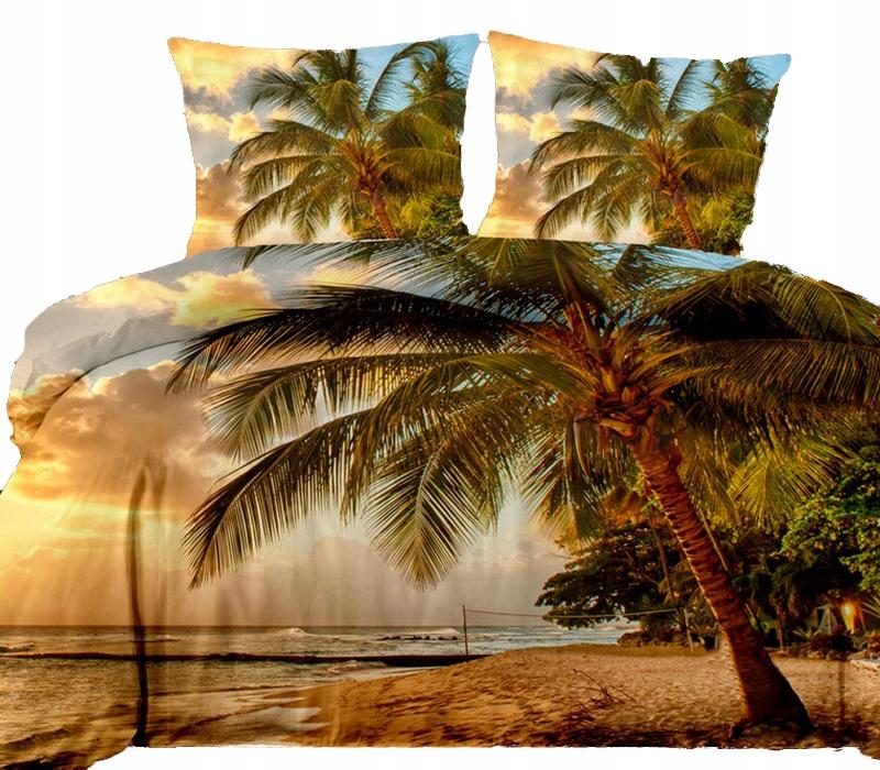 Pościel 3D 160x200 Morze Palmy Cotton World 3cz