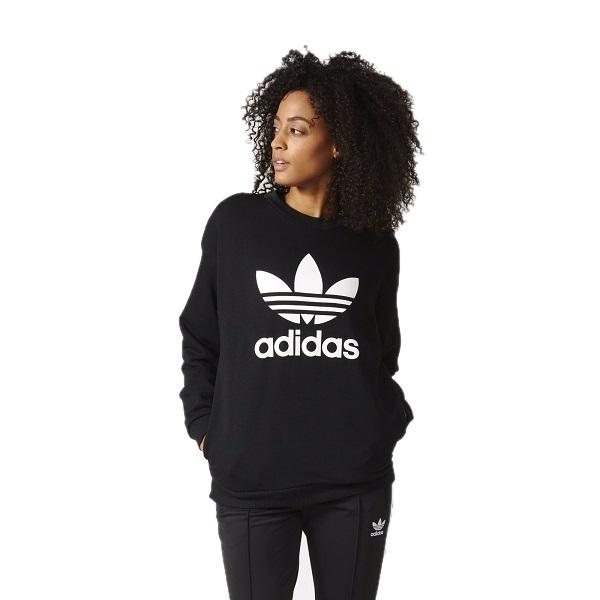na sprzedaż online przytulnie świeże o rozsądnej cenie ADIDAS bluza Trefoil czarna duże logo kieszenie S ...