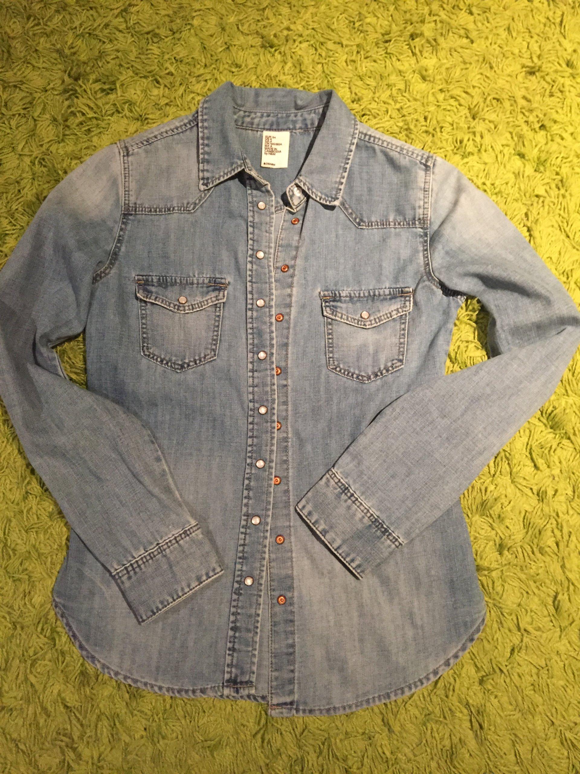 70b645d8 H&M koszula jeans jeansowa 34/XS