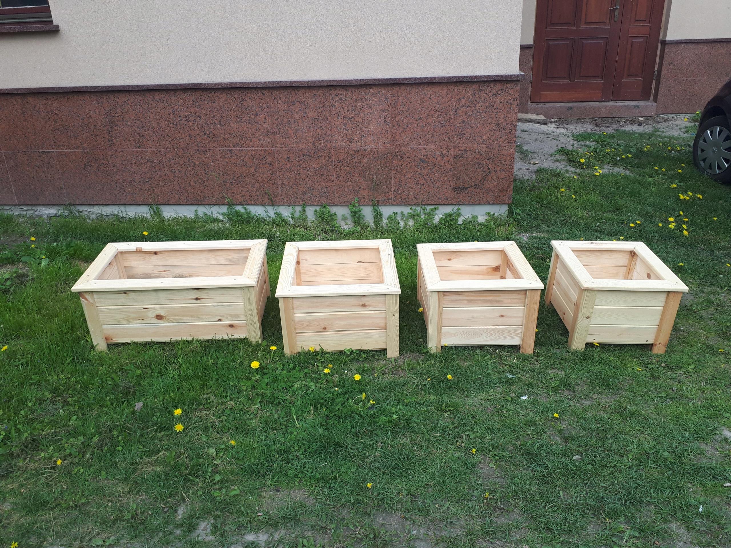 Doniczki Drewniane Szkrzynki Donice 7441000396