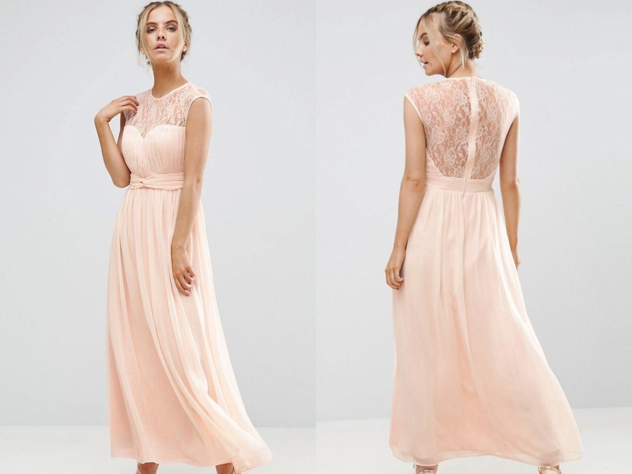 8a506b5fc4 LITTLE MISTRESS Nude Szyfonowa Sukienka Maxi S - 7099765837 ...