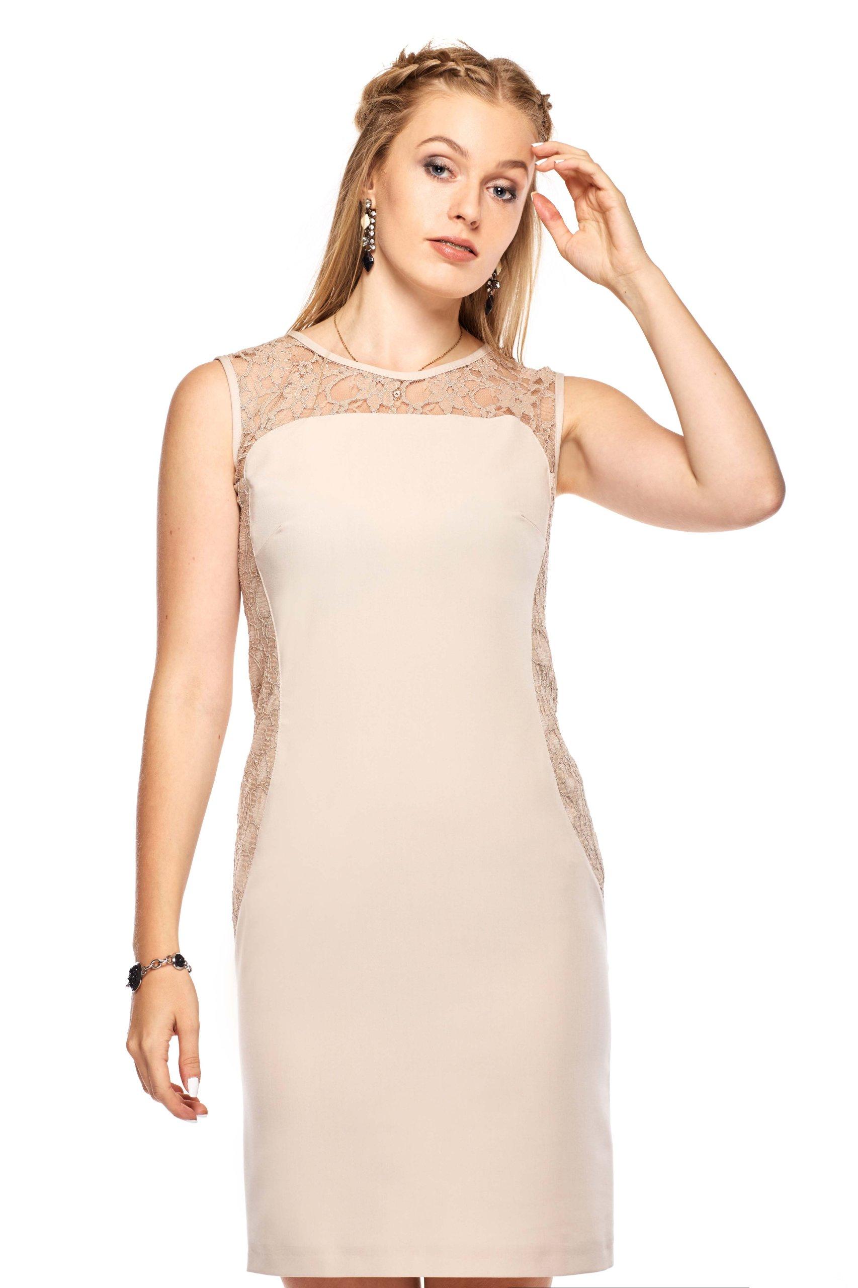 3ead19b3c9 Dopasowana sukienka wizytowa z koronką 42 XL - 7060417329 ...