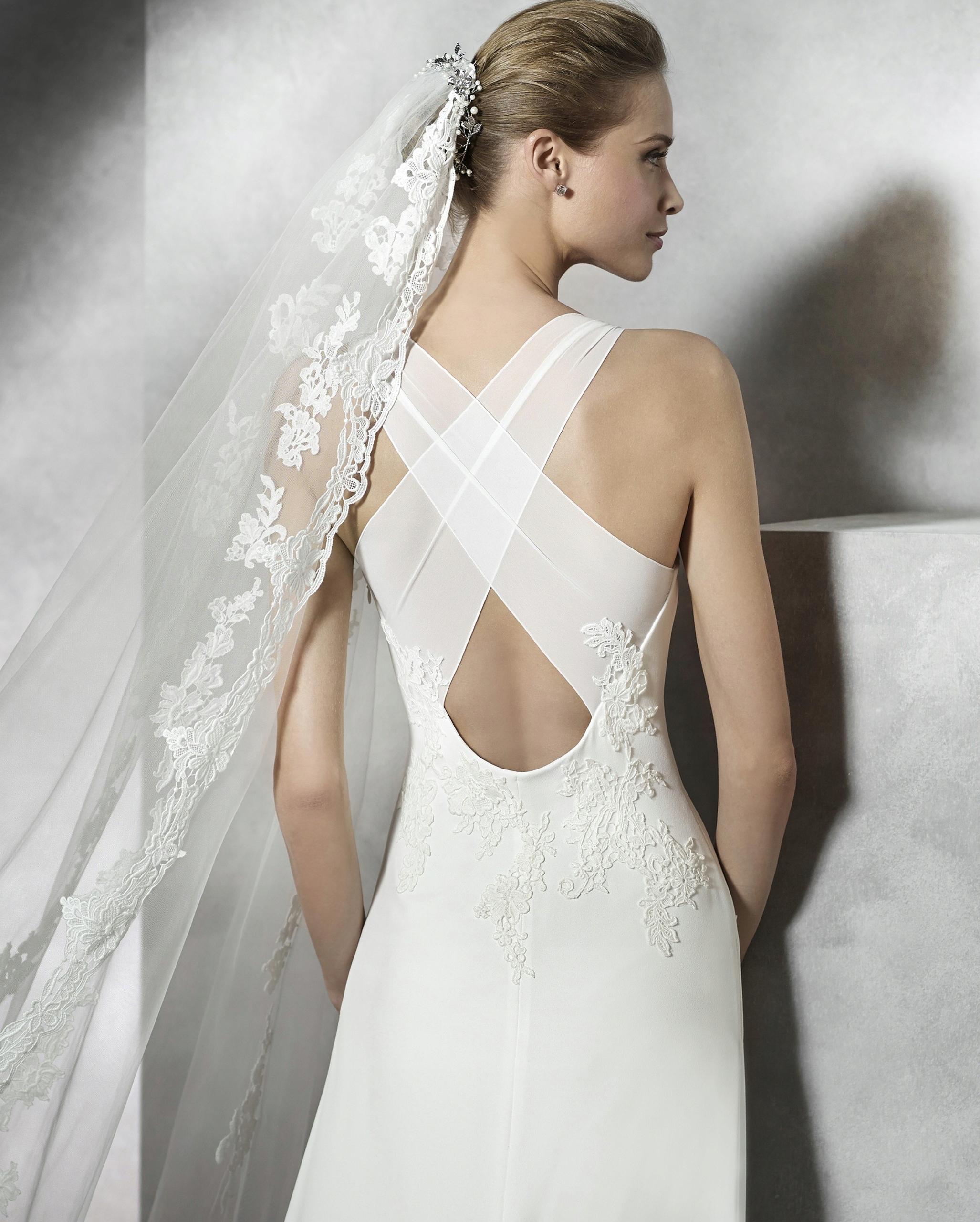 Suknia ślubna Pronovias Tori 36 S Elegancka Nowa 7611662885