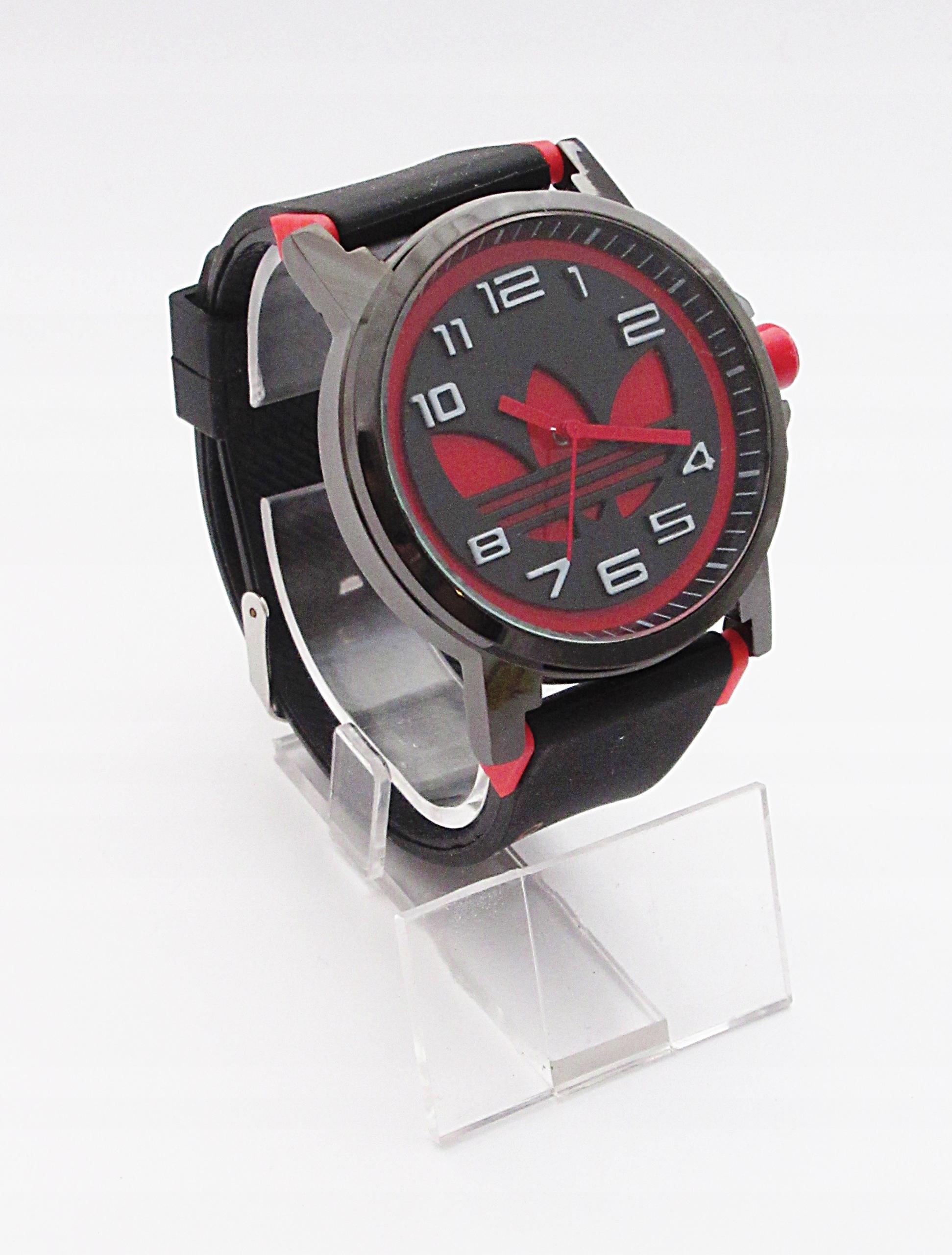 d1cac4b53d6b0 Zegarek Adidas silikonowy pasek czarny czerwony %% - 7672473010 ...