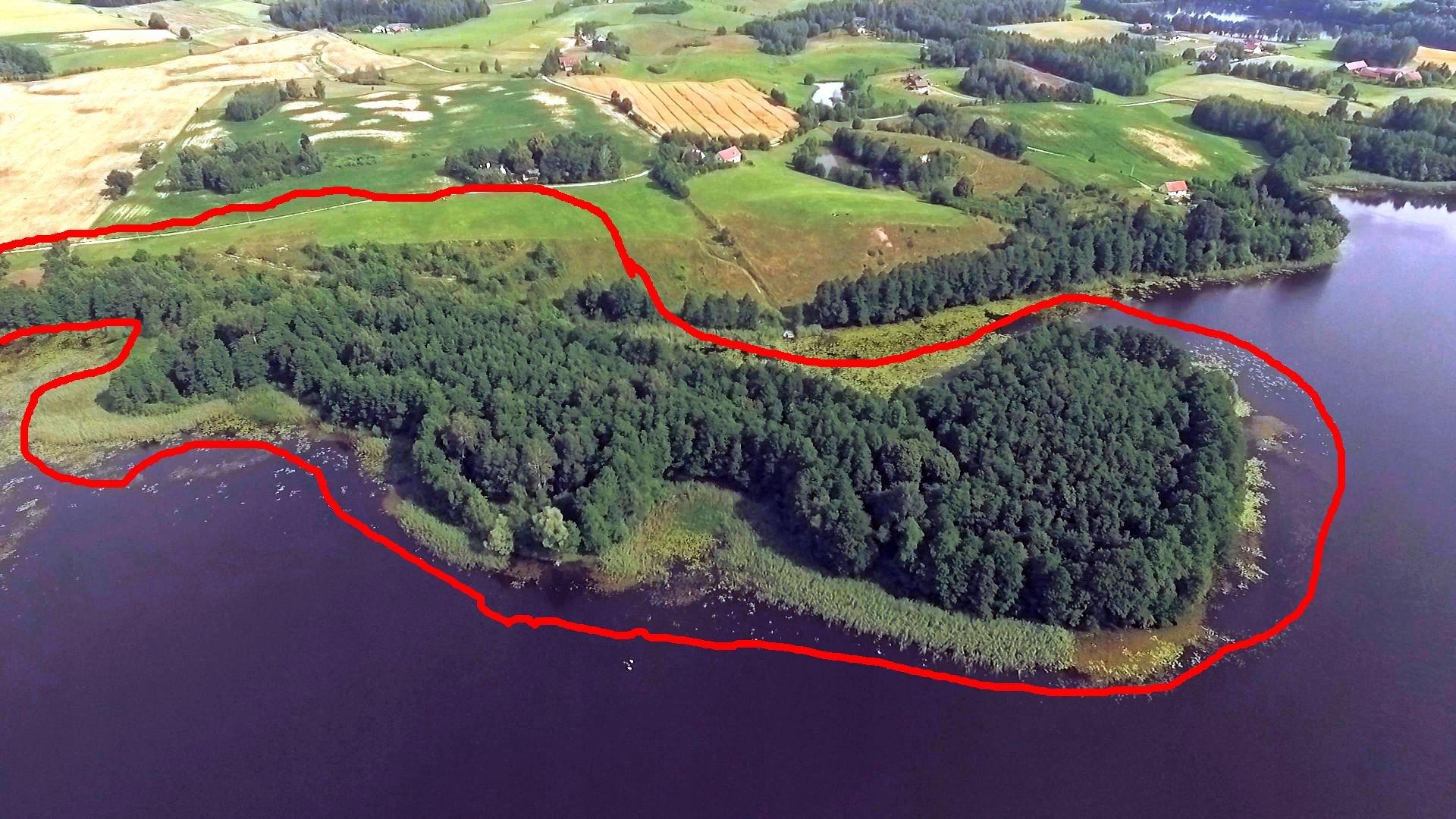 działka budowlana półwysep jezioro Karwie Mazury