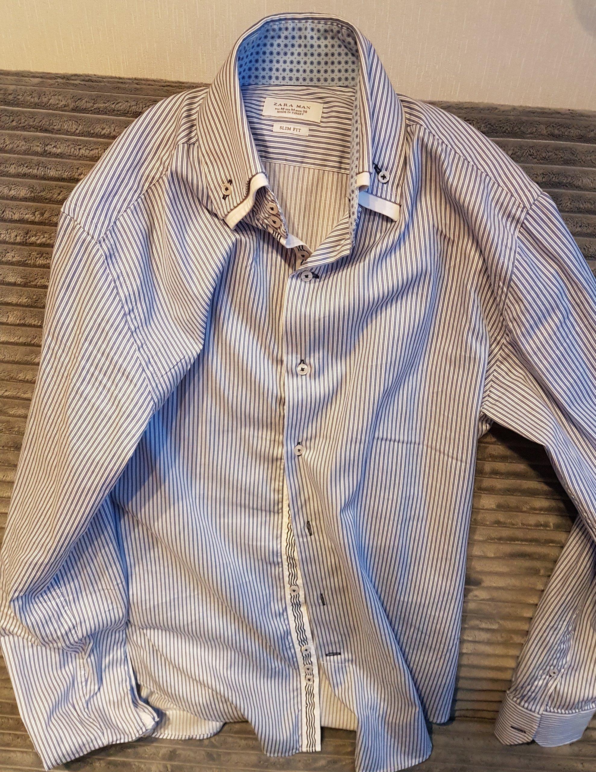 383926d9e95f4 Elegancka koszula Zara Man M slim fit / 38 nowa - 7282331300 ...