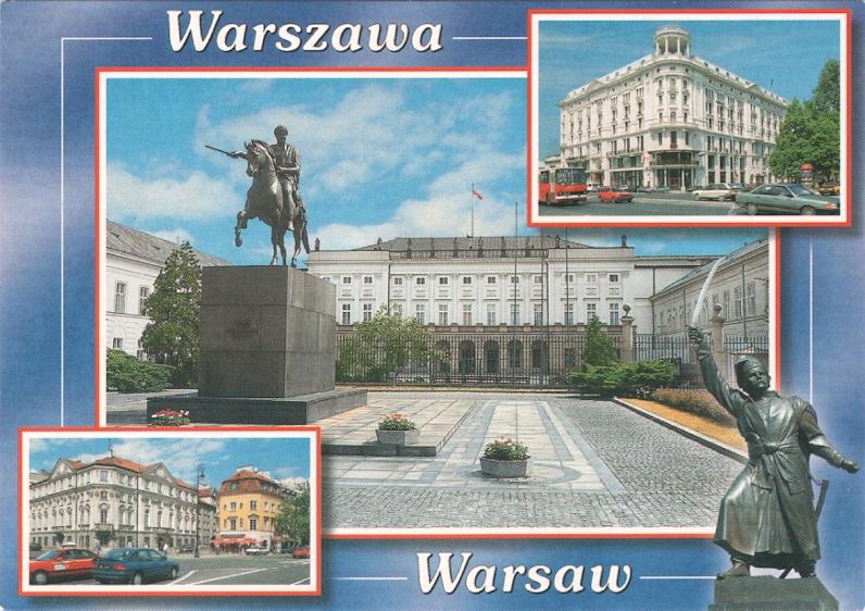 WARSZAWA - PAŁAC NAMIESTNIKOWSKI + HOTEL BRISTOL -