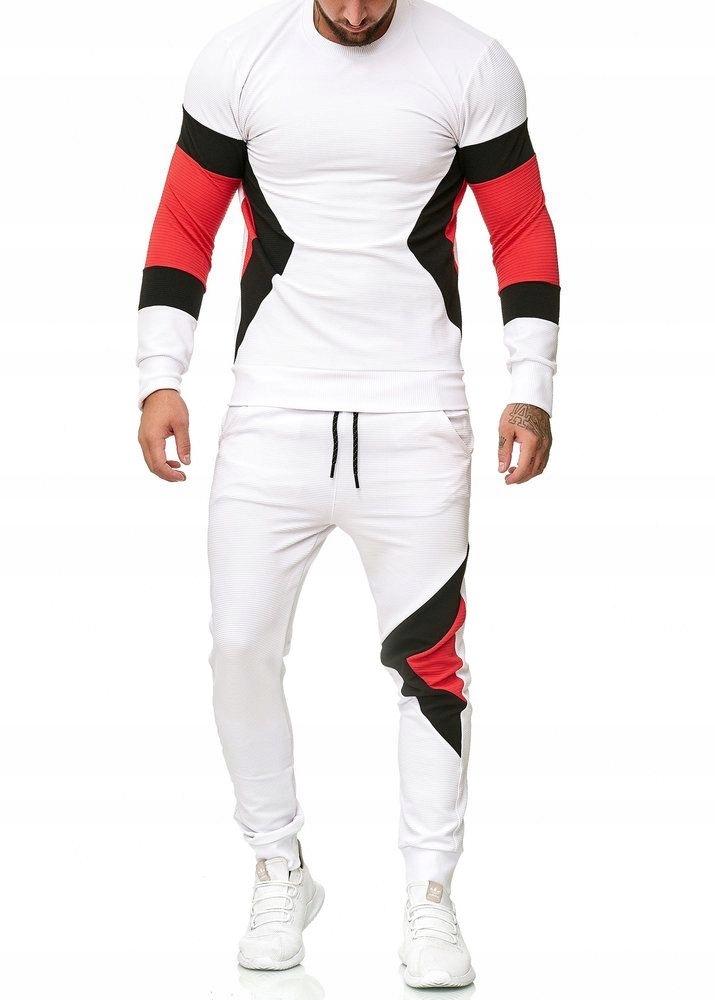 Dresy Spodnie i bluza dresowa M1215 biały L 7568856869
