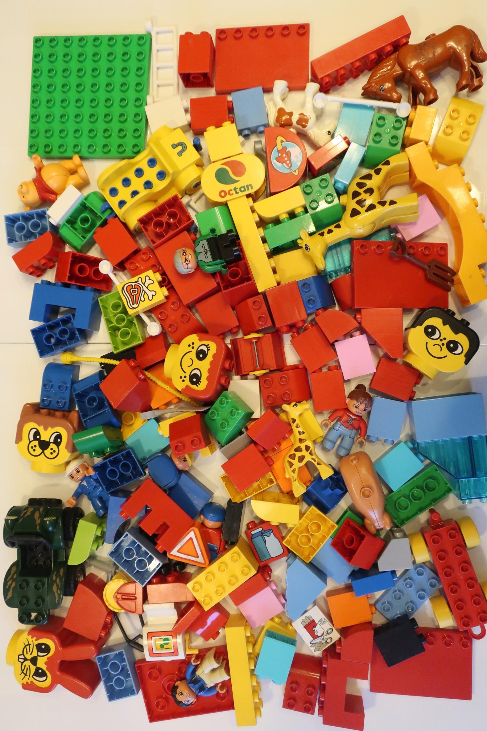 Lego Duplo Klocki 2 Kg Ludziki Zwierzęta Auto 2 7689113582