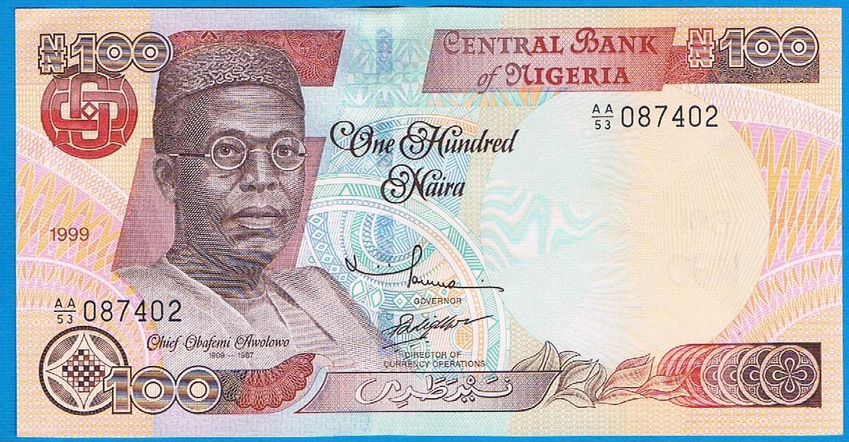 Nigeria 100 Naira Rok 1999 P 28a Stan 2