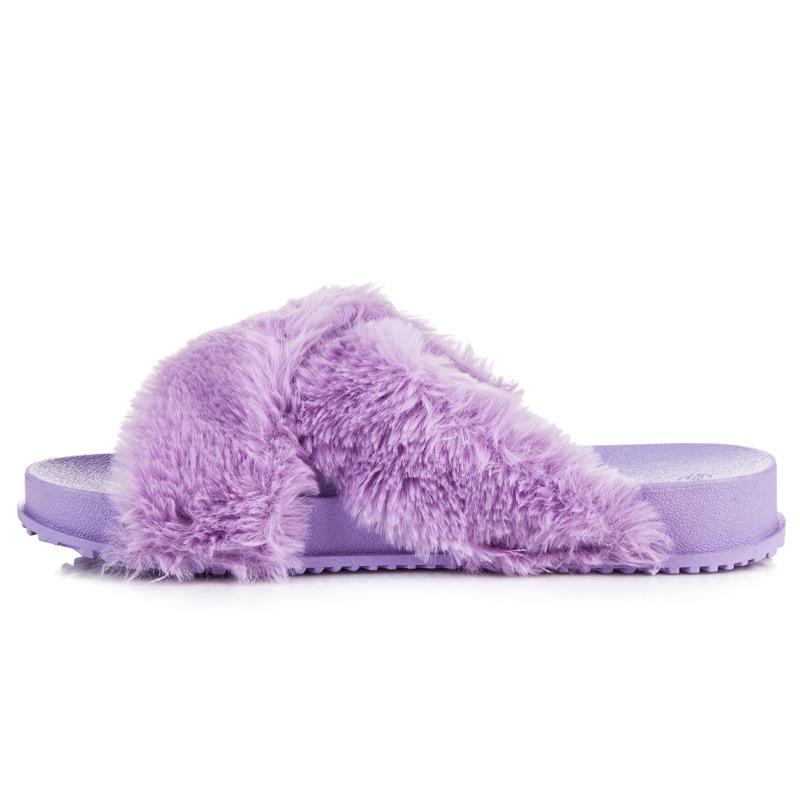 c6a43afc8b7fe STYLOWE KLAPKI Z FUTERKIEM 38 fiolet obuwie buty - 7389002534 ...
