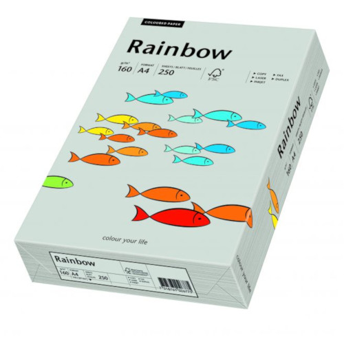 Papier kolorowy Rainbow SZARY 160g A4 nr96