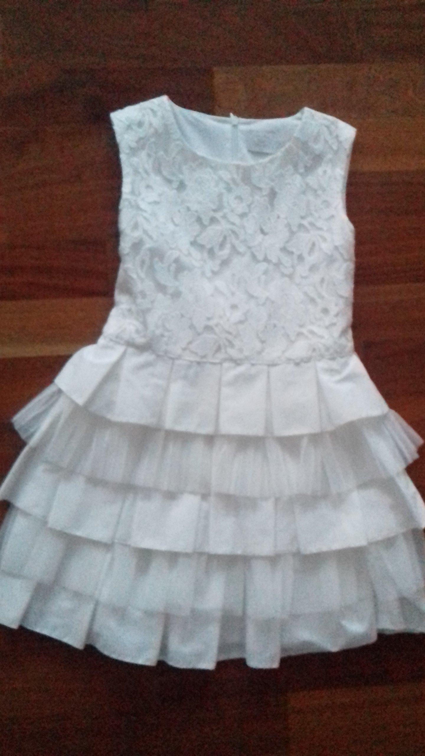 929e40256a Sukienka śliczna pokomunijna SLY jak nowa rozm.134 - 7144312203 ...