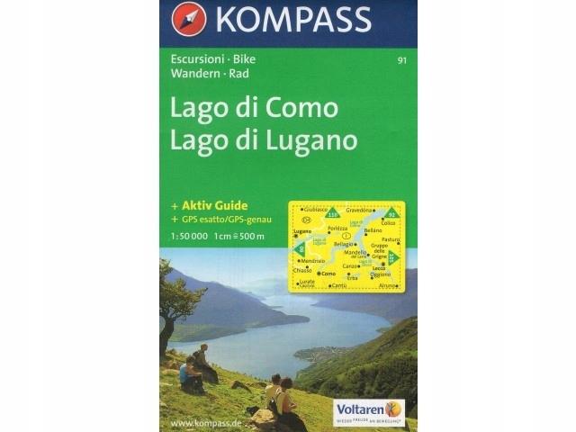 Mapa Lago Di Como.Kompass Mapa Wk 91 Lago Di Como Lago Di Lugano 7444539494