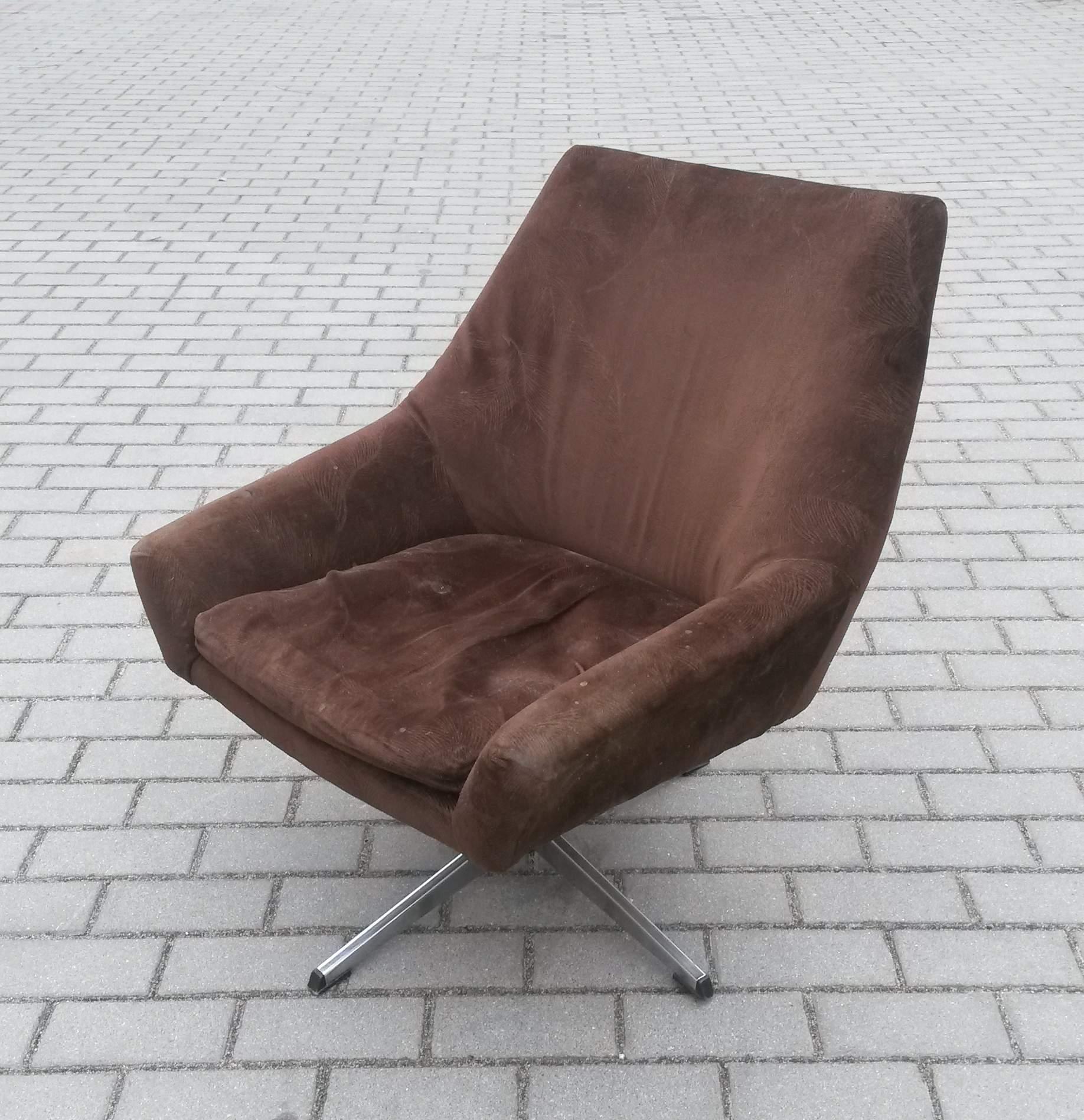 Fotel Obrotowy Muszelka Z Lat 60 70 Tych Prl