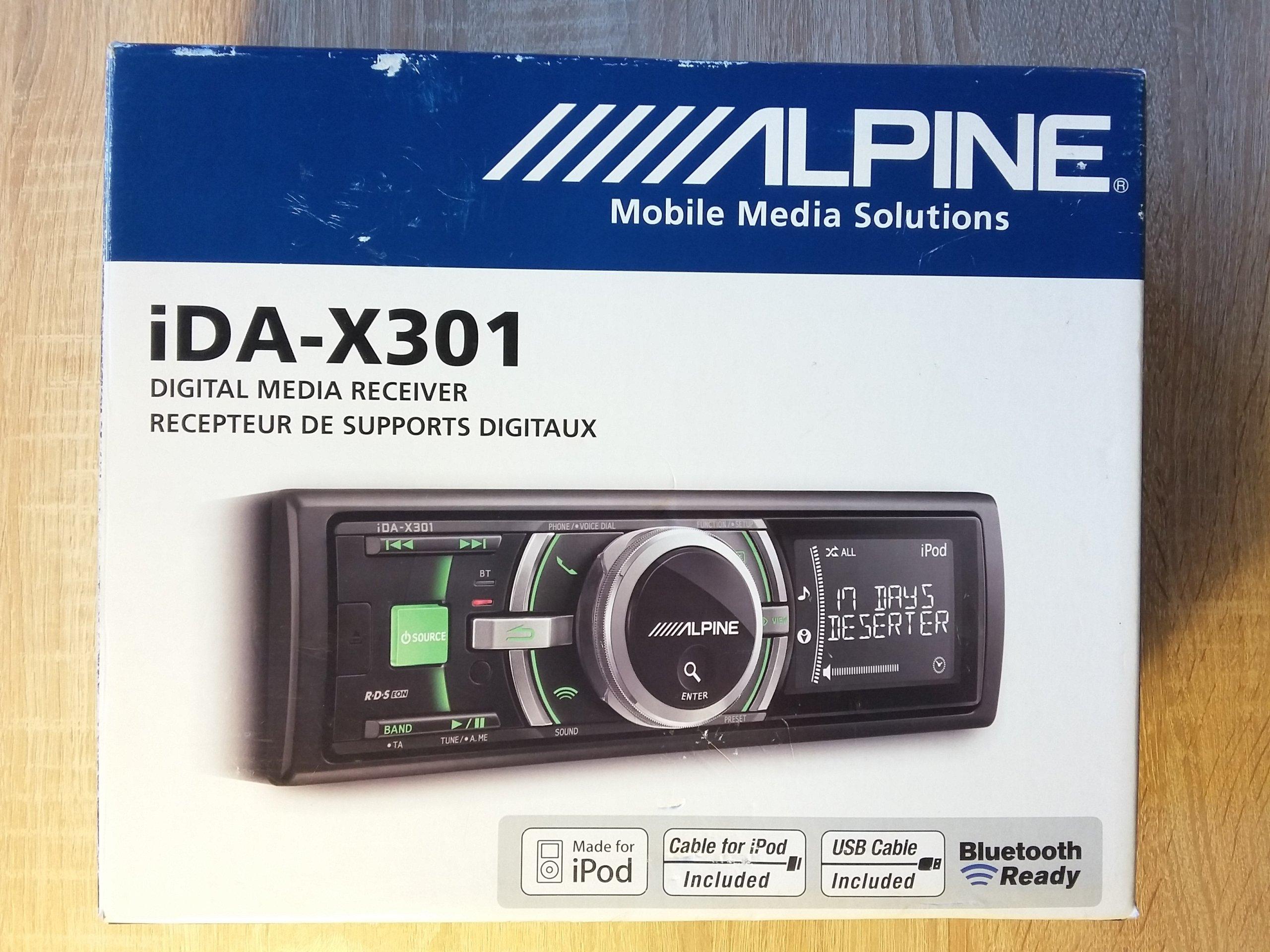 Radioodtwarzacz Alpine iDA-X301 (USB,iPod,AUX,BT) - 7082780563 ...