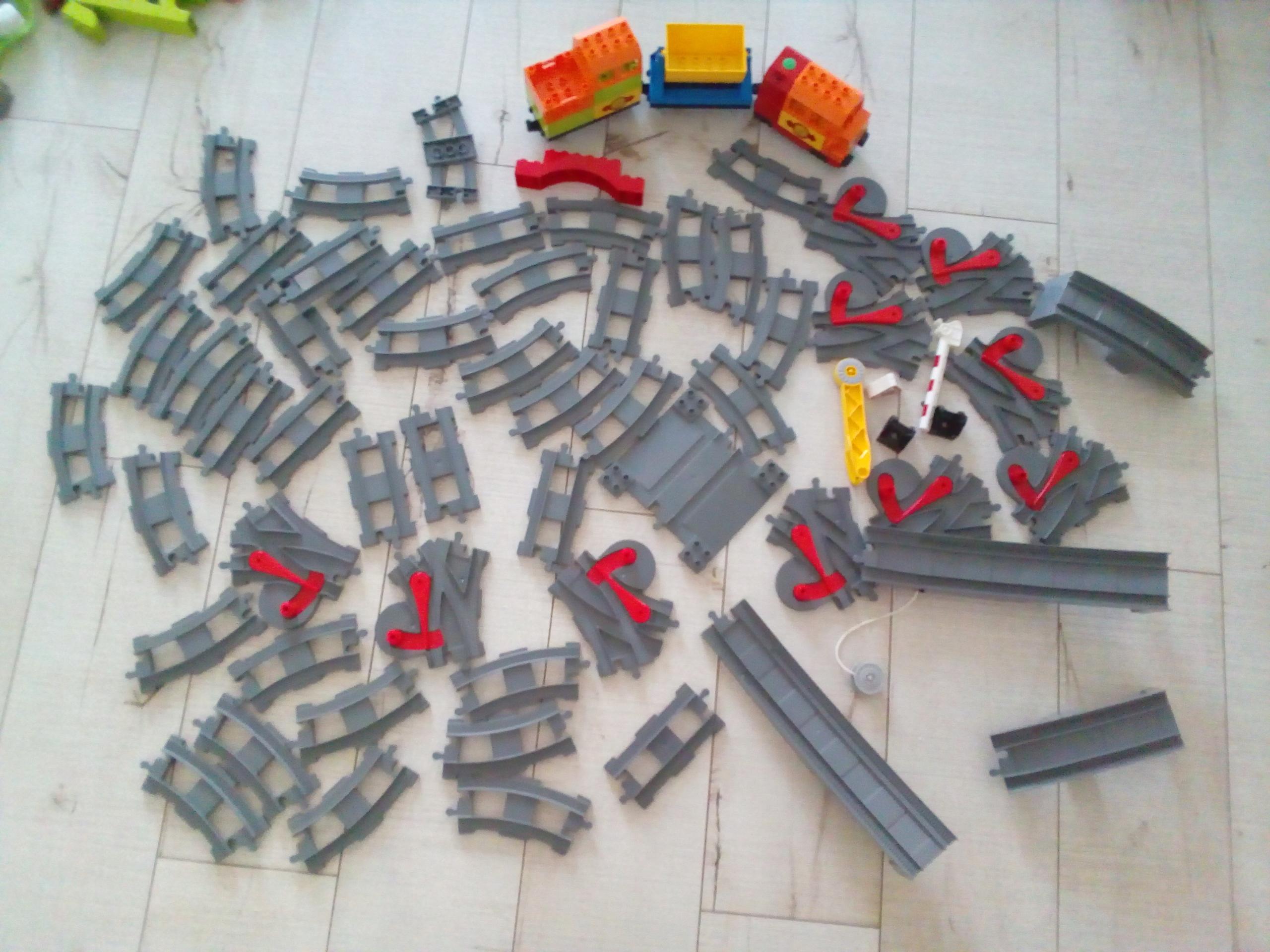 Lego Duplo Pociąg Towarowy Tory Most Zwrotnice 7645153142