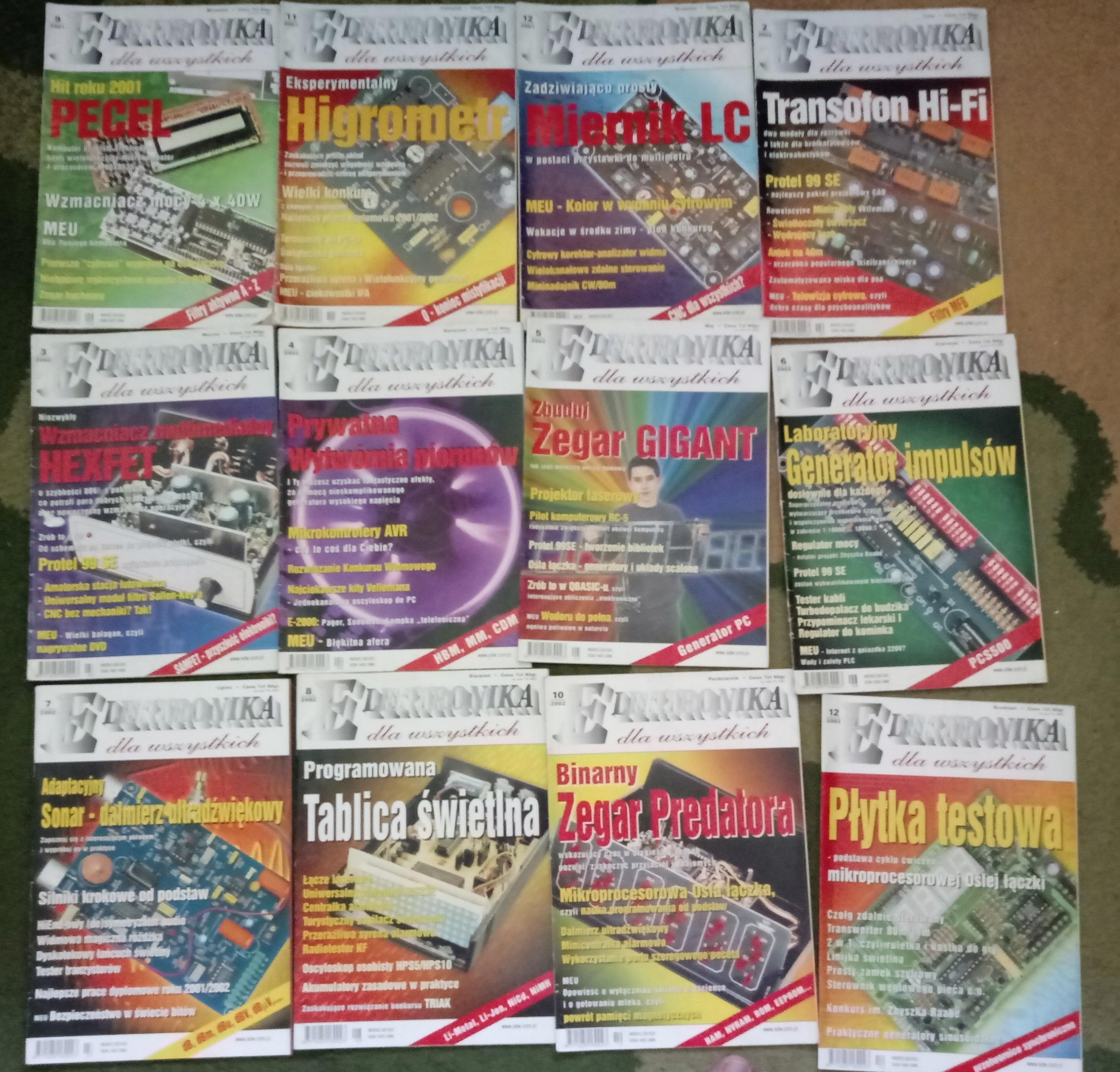 Miesięcznik Elektronika dla Wszystkich 12 numerów2