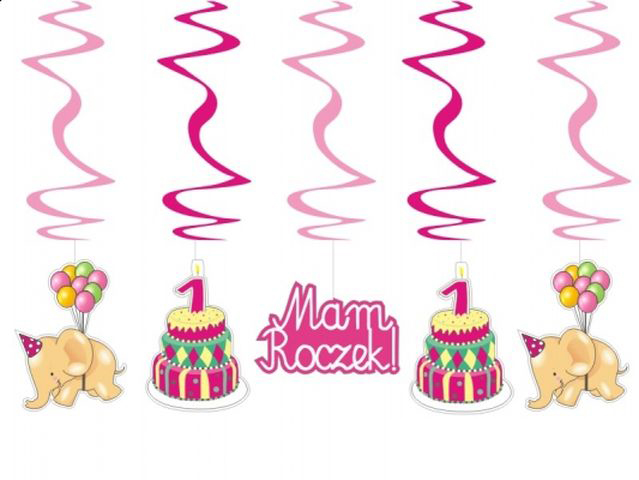 Dekoracja Roczek Pierwsze Urodziny 20 Wzorów Hit 6749332394