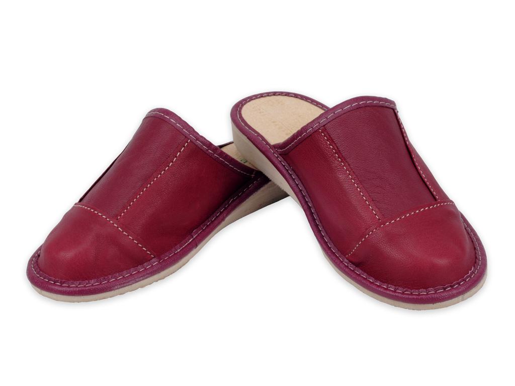 c324b86c457fc Pantofle laczki domowe A9L - Skóra nat. 100% nr 41 - 6918684836 ...
