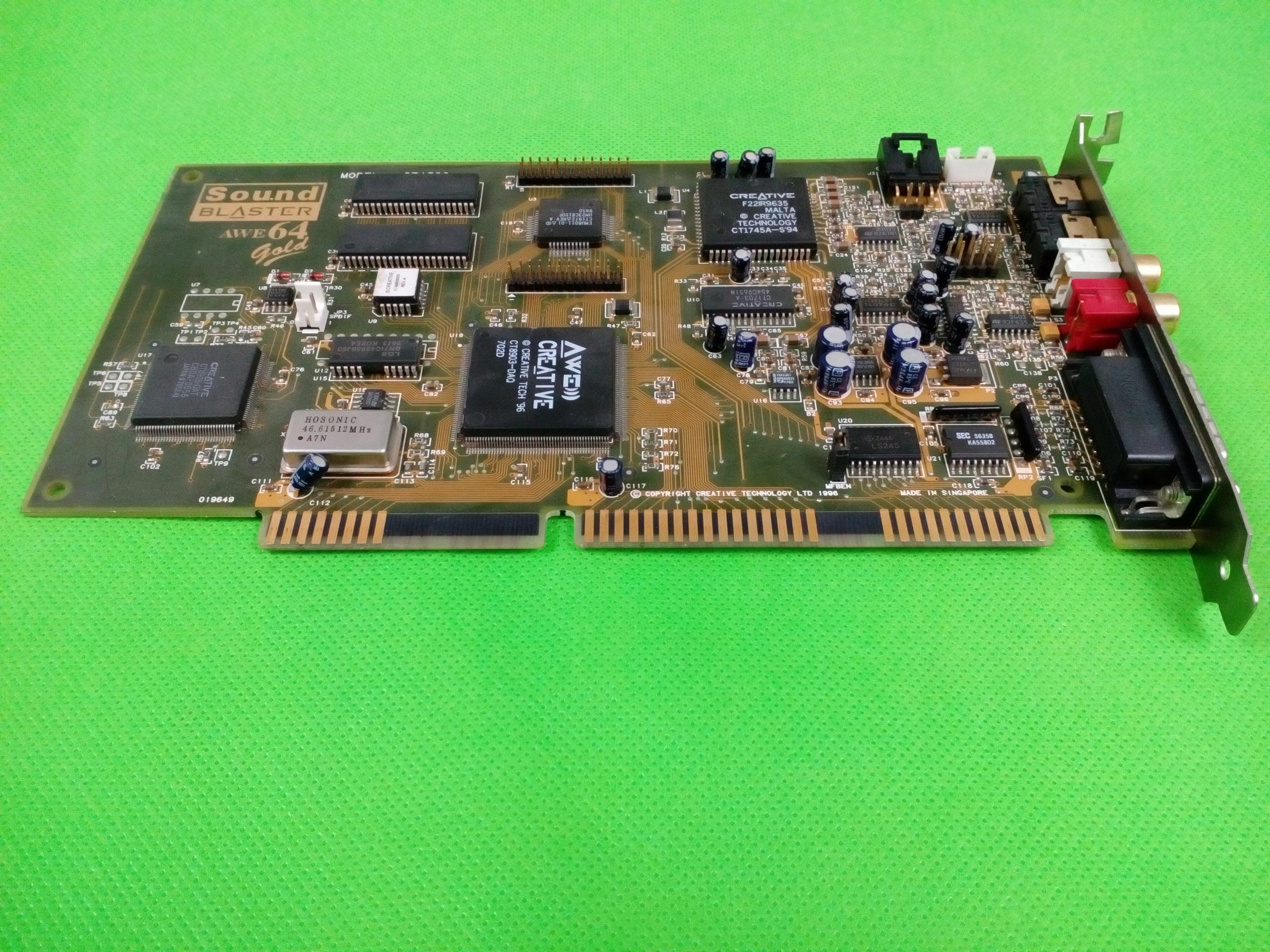 Karta dźwiękowa Sound Blaster Awe64 Gold CT4390