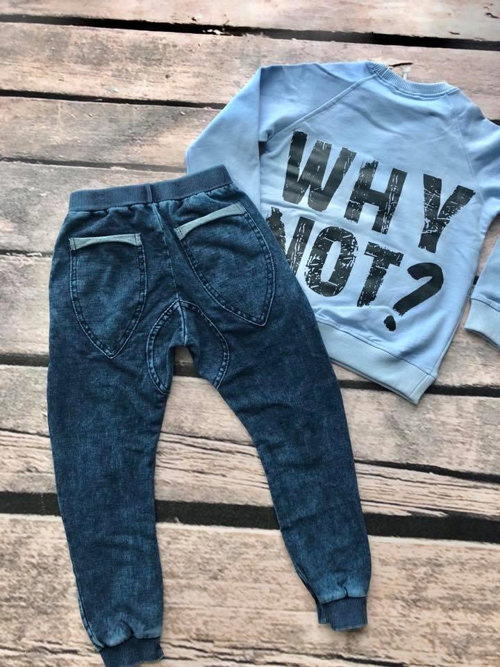 d7e334dea8a2b2 Spodnie dresowe ala jeans dekatyzowane wygodne 92 - 7585805652 ...