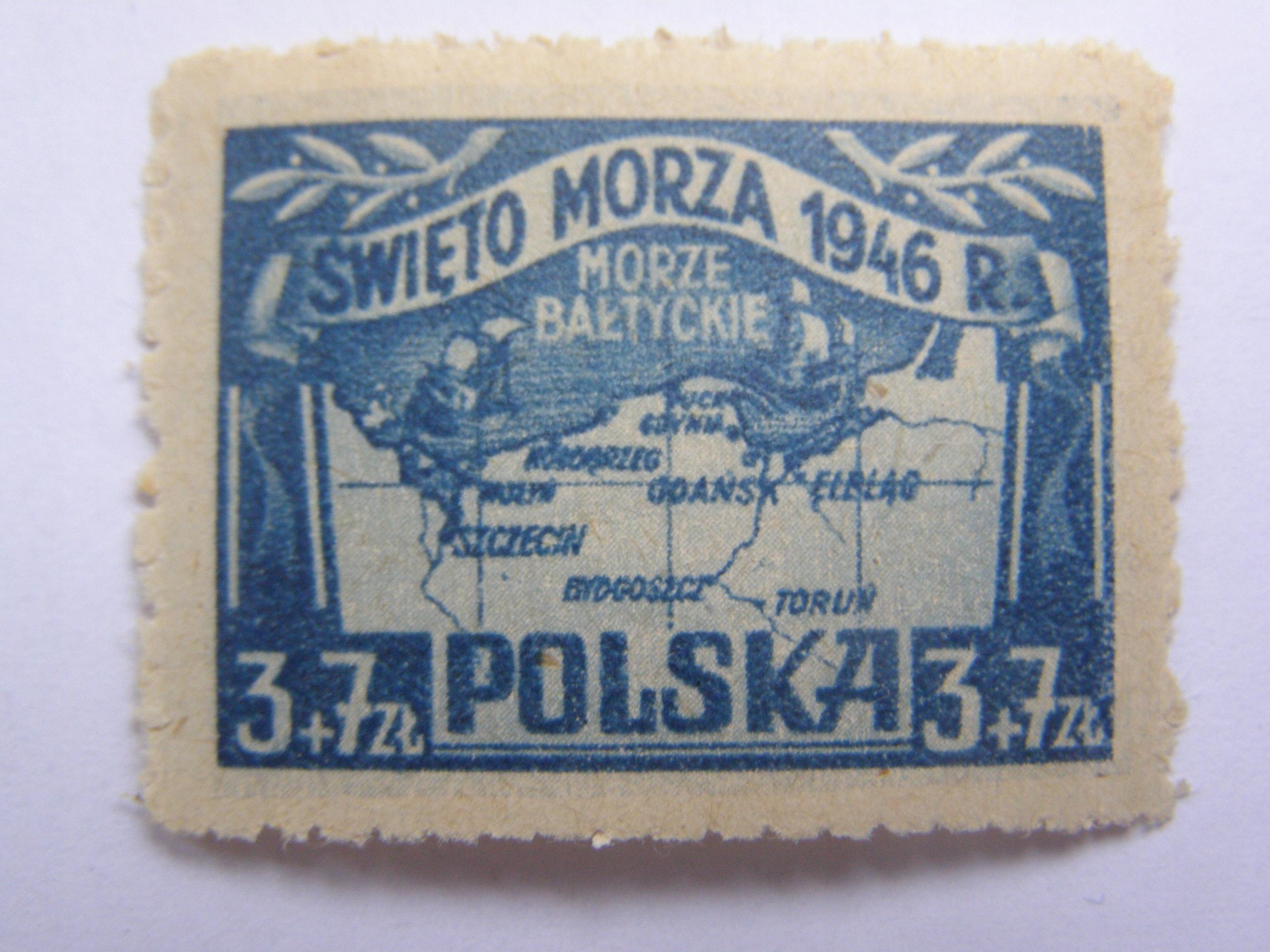 Polska - Święto Morza 1946 - Fi. 406 **